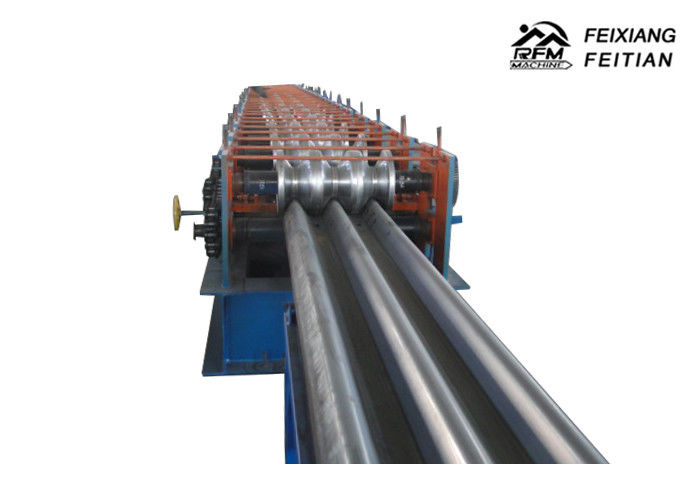 High Accuracy Highway Guardrail Making Machine , Hollow Guard Rail Roll Forming Machine