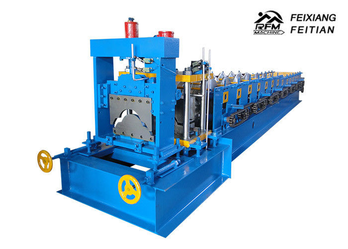 312 Roof Tile Roll Forming Machine , PLC Control Ridge Cap Roll Forming Machine